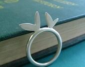 Petal Stacking Ring Sterling Silver