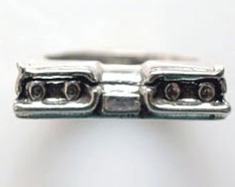 1958 T-Bird Rear End Ring in Sterling Silver