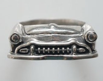 1955 Desoto Grill Ring in Sterling Silver