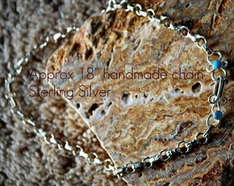 Sterling Silver hand fabricated chain necklace