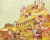 City - 11x14 Fantasy Art Print Signed