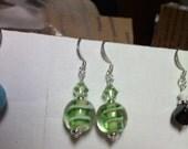 Green Vortex Earrings