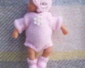 Knitted Dolls Clothes 4.5 inch ashton drake or reborn ooak