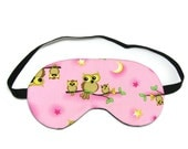 Pink Family Owls Sleep Eye Mask