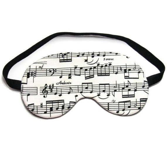 Music Sheet Sleep Eye Mask