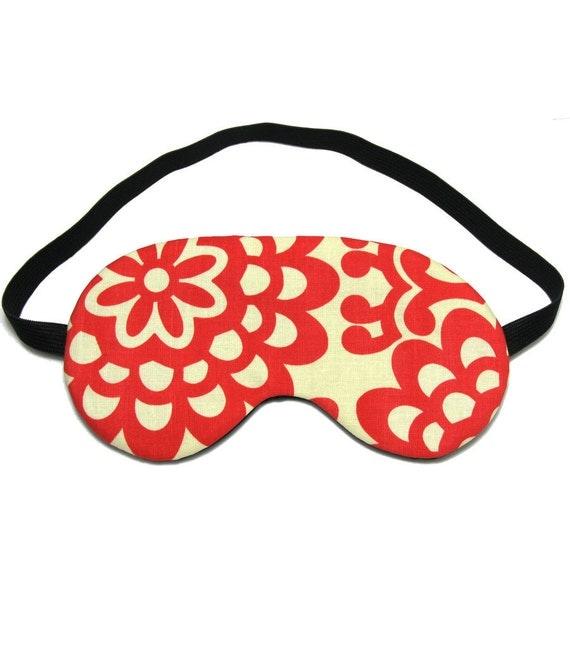 Red Sketchbook Flower Sleep Eye Mask