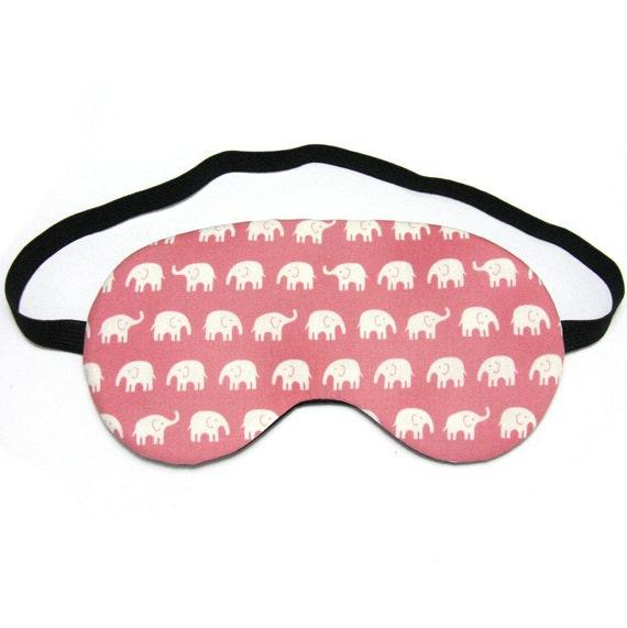Pink Baby Elephants Sleep Eye Mask