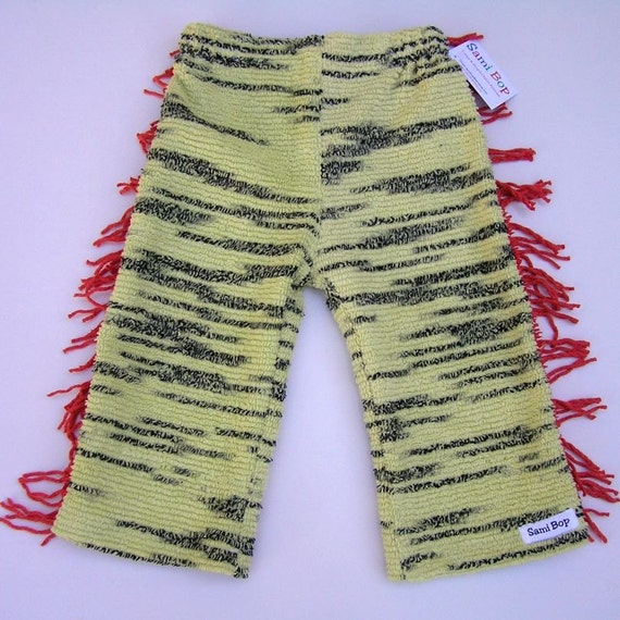 Sami Bop Recycled Chenille Tiger Cowboys and Indians Pant - Size 1