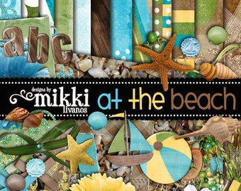 Digital Scrapbook Kit- At the Beach