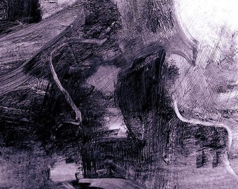 Guardians of the Coast Road - small abstract monochrome fine art print