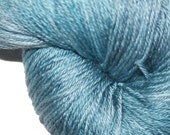 GLACIER ICE in Hand Dyed Poet Seat Fingering Weight Superwash Merino and Silk Yarn