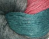 LEVEE in Hand Dyed Poet Seat Fingering Weight Superwash Merino and Silk Yarn