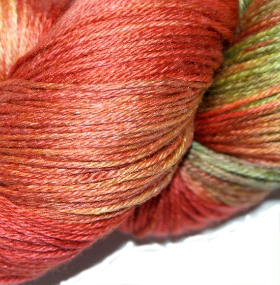 ARROWSMITH  in Hand Dyed Poet Seat Superwash Merino and Silk Yarn