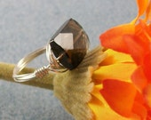 Smokey Topaz Cocktail Ring Size 6