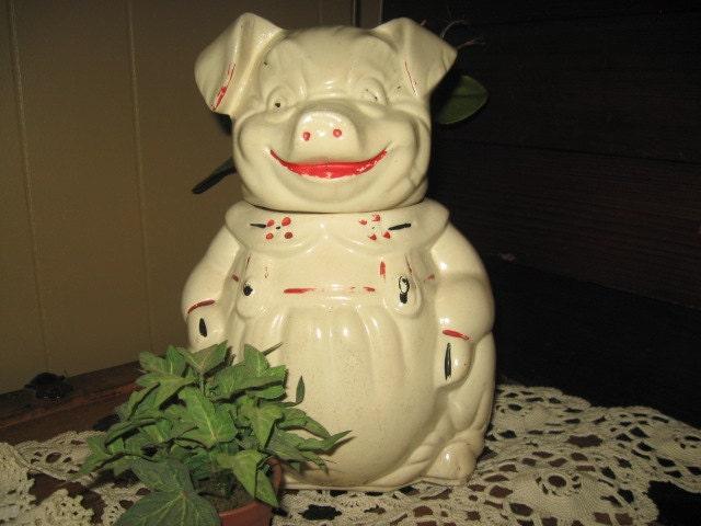 Vintage Pig Cookie Jar By Trudyp On Etsy