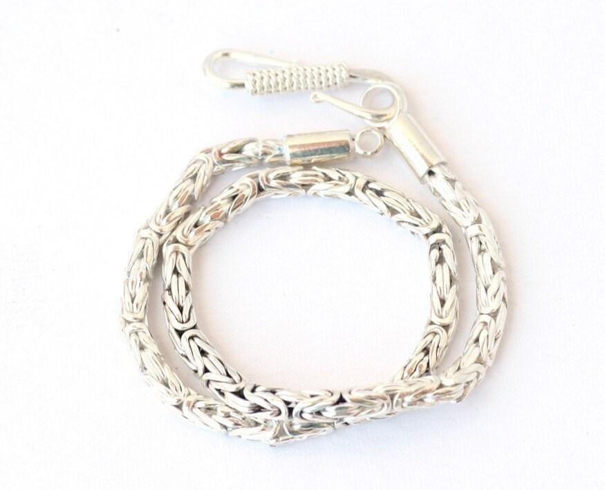 add a bead byzantine bracelet sterling silver for big
