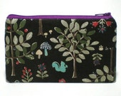 Squirrel in the Forest Zipper Pouch