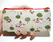 Little Red Riding Hood Long Zipper Pouch