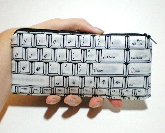 Keyboard Long Zipper Pouch