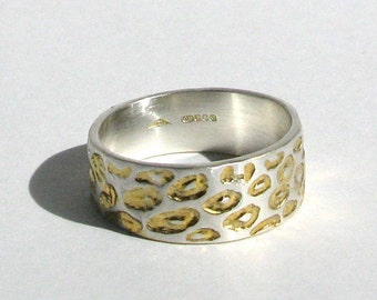 Wide Leopard Ring with Gold Detail