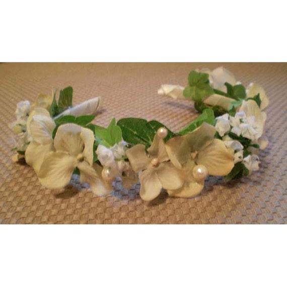 floral headband flower girl fashion accessory bridal wedding faerie costume fairy headband hair flowers