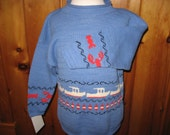 Maine made cotton pullover child rollneck lobsterboat buoy seafood sweater