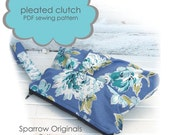 pleated clutch w\/ zipper PDF sewing pattern