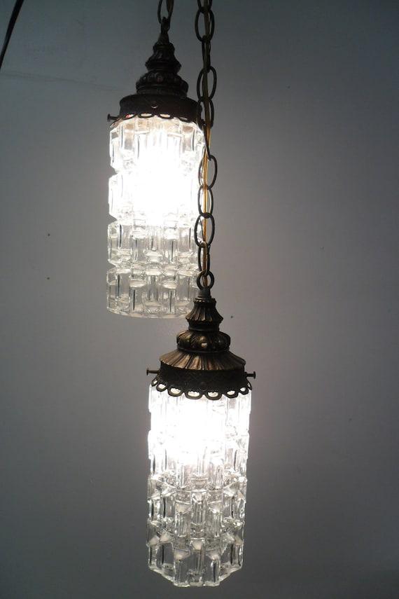 Mid Century  Modern Swag Lamp