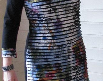 Ruffle Print Long Shirt/Dress cotton
