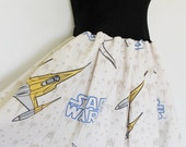 STAR WARS Baby Doll Dress Bow Strapless Handmade Party Blue LARGE