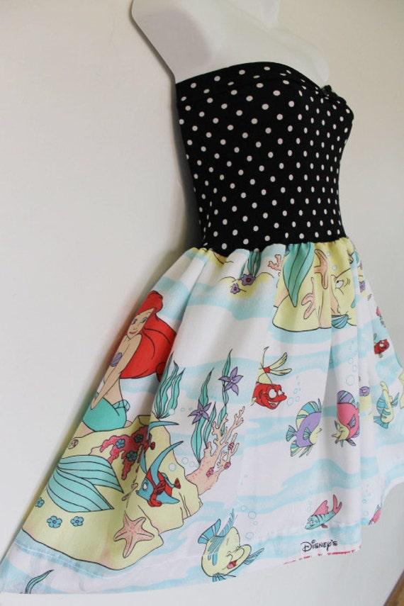 The LITTLE MERMAID Disney Party Dress Bow Disney Ariel