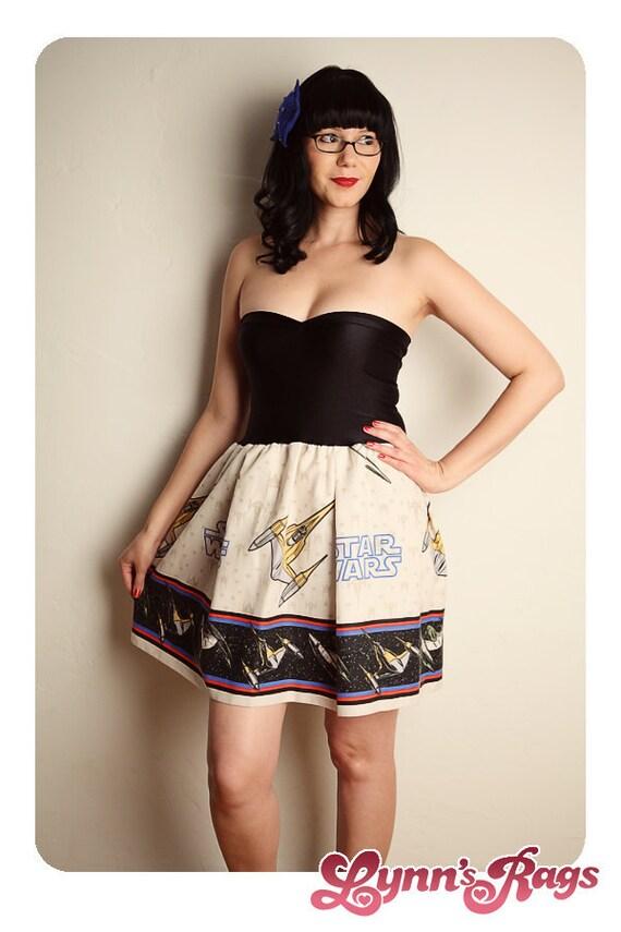 STAR WARS Baby Doll Dress Vintage Handmade BOW
