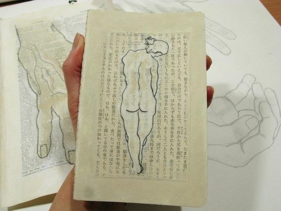 Moleskine moleskin Notebook, hand painted, dancer, original art