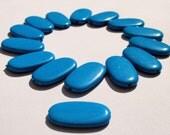 Turquis resin beads - 3 x 1,6 cm