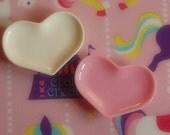 4pcs Heart Shaped Plate Cabochons