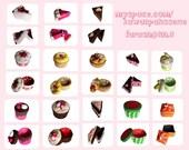 Treats - Cakes Felt Boxes