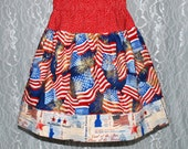 SALE - size: 3T - AMERICAN FLAG Twirl Skirt - Boutique Girls Skirt - ooak