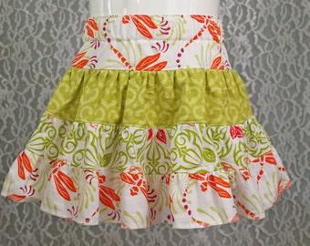 size 12-18 months - GRAND BAZAAR Tiered Skirt - Boutique Girls Skirt  - OOAK