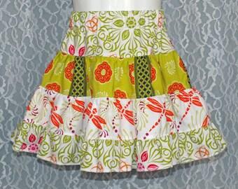 size: 2T - GRAND BAZAAR Tiered Skirt - Boutique Girls Skirt - OOAK