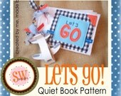 PATTERN for Lets Go Quiet Book - digital .PDF download