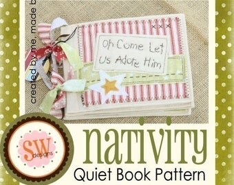 PATTERN for Nativity Quiet Book - digital .PDF download