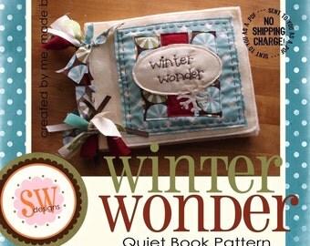 PATTERN for Winter Wonder quiet/activity book - digital .PDF download