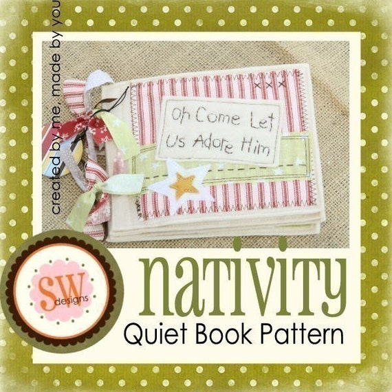 Felt Book Cover Pattern ~ Pattern for nativity quiet book pdf