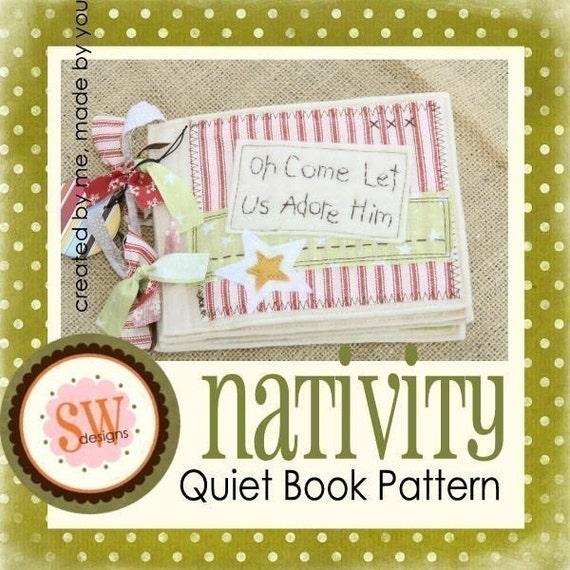 PATTERN for Nativity Quiet Book - digital .PDF download