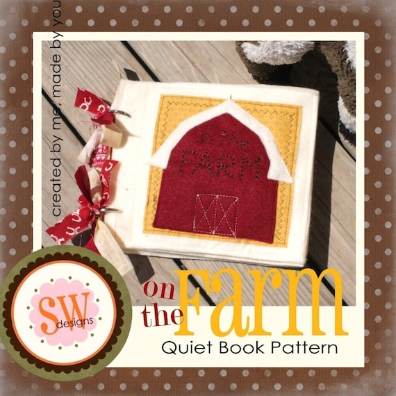 PATTERN for On The Farm Quiet Book - digital .PDF download