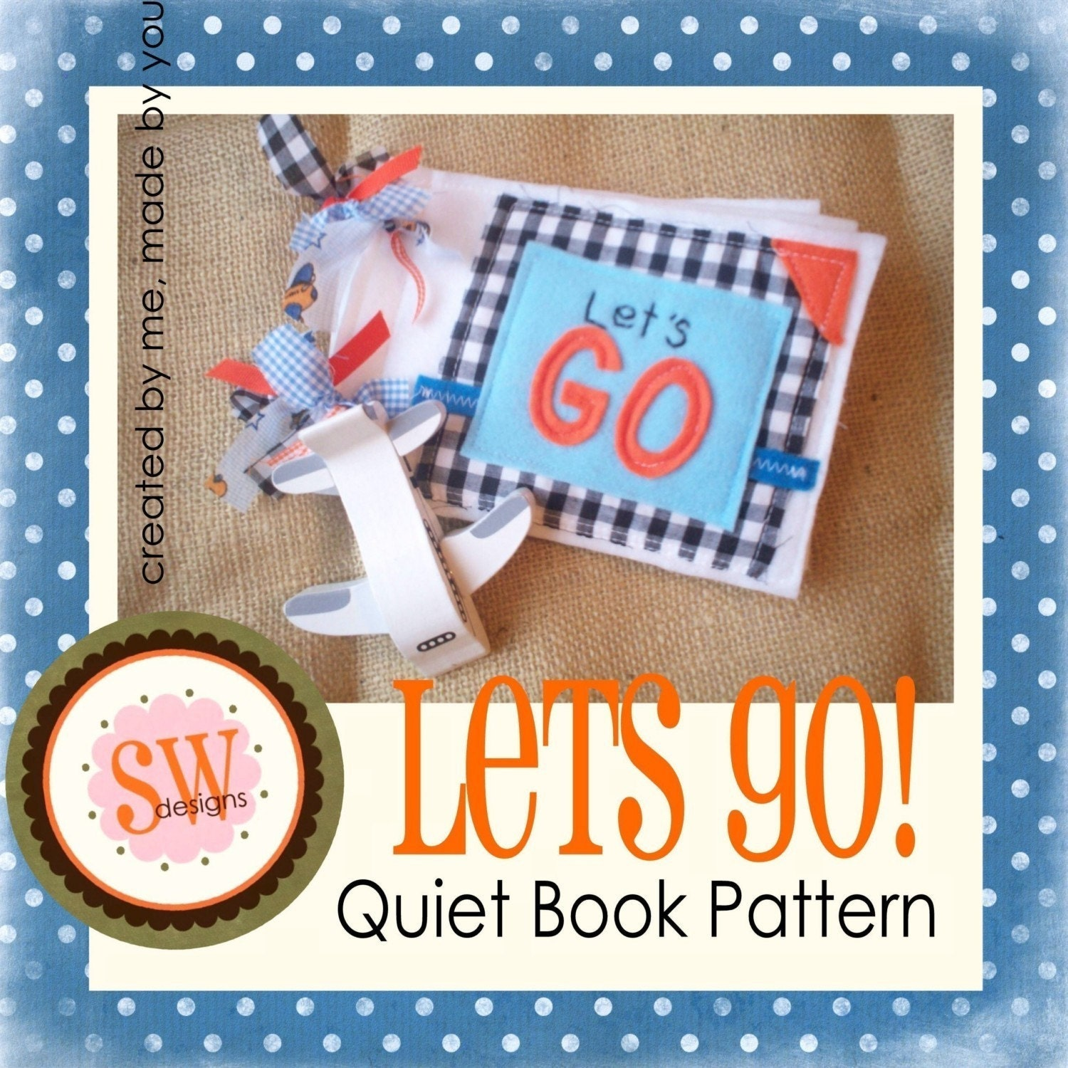 Quiet Book Cover Pattern : Pattern for lets go quiet book digital pdf download