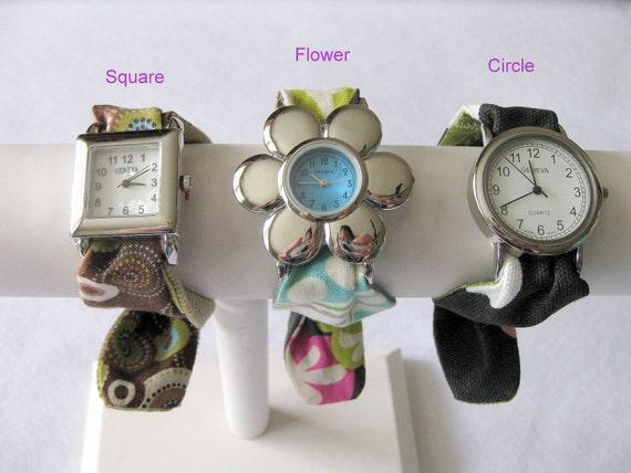 Womens Custom Fabric Watch Set YOU CHOOSE 3 BANDS