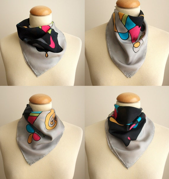 Hand painted Silk scarf-Woman scarf-Woman gift-Giveaways-Woman gift -17.5x17.5 inches(45x45 cm)