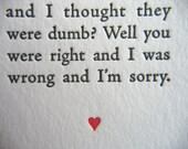 Letterpress Valentine No. 4