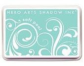 Reserved -- Soft Pool Ink Pad -- Hero Arts Shadow Ink -- Teal Blue